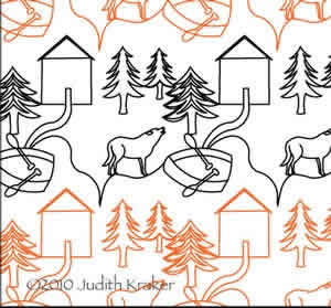 Cabin Wolf Boat Panto/Border | Digital Quilting Designs : digital quilting - Adamdwight.com