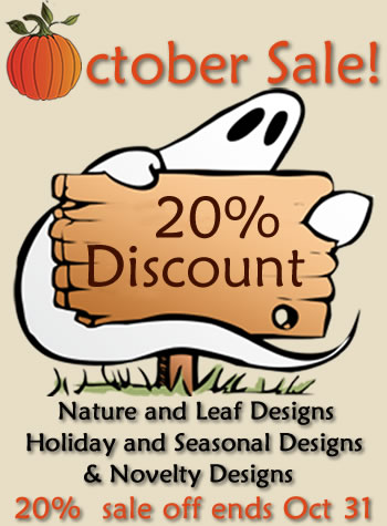 October Sale - 20% off Nature / Leaves / Holiday / Seasonal / Novelty