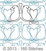 Digital Quilting Design Best Friends by 160 Stitches.