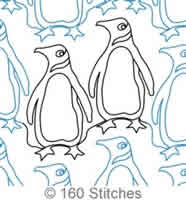 Digital Quilting Design Penguins by 160 Stitches.