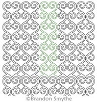Digitized Quilting Design Nesting Hearts by Brandon Smythe. For use on any long arm quilting machine with a computer guided quilting system installed.