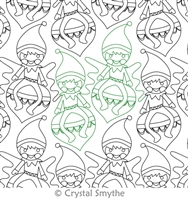 Digital Quilting Design Magical Elf Panto by Crystal Smythe.