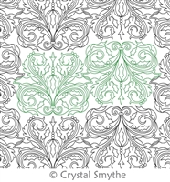 Digital Quilting Design Winter Damask Panto by Crystal Smythe.