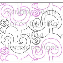 Digital Quilting Design Scribbly Swirls by Lorien Quilting.