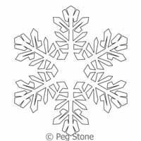 Image of Snowflake 5 by Peg Stone, Copyright 2014